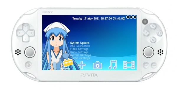 A PS Vita Slim running the TN-V eCFW