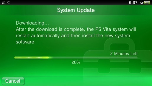 A new PS Vita firmware update is now available